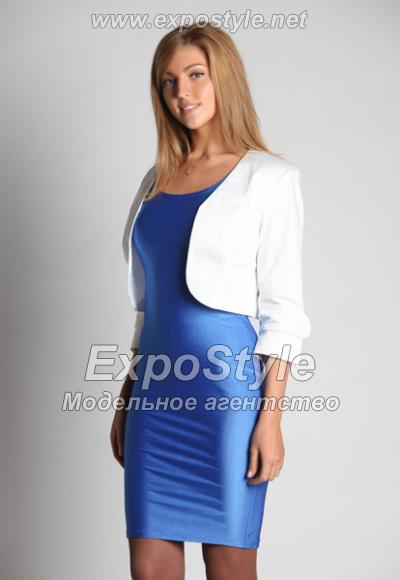 Синие платья с пиджаком